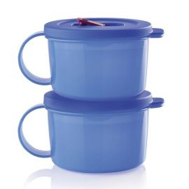 Deux Tasses à soupe Cristal-Ondes® PLUS