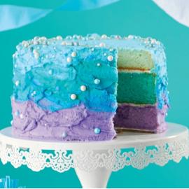 Gâteau ombré des sirènes