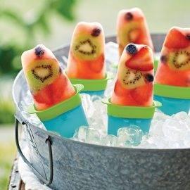 Sucettes glacées Fruits d'été