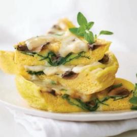 Omelette épinards-champignons