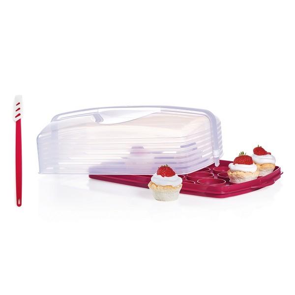 Cloche à gâteau rectangulaire avec cadeau