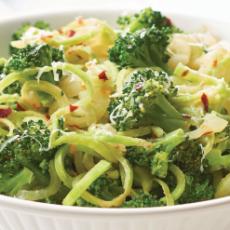 Salade de brocoli en spirale
